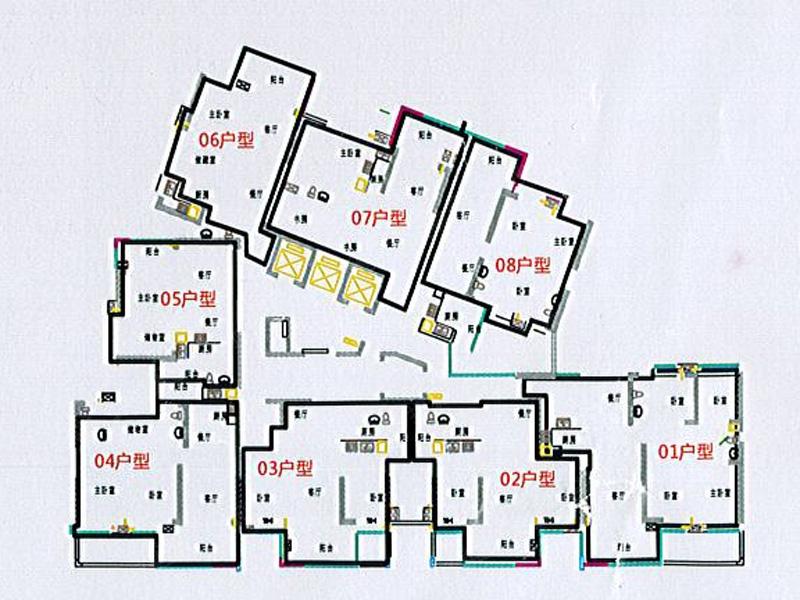 3号楼楼层平面图