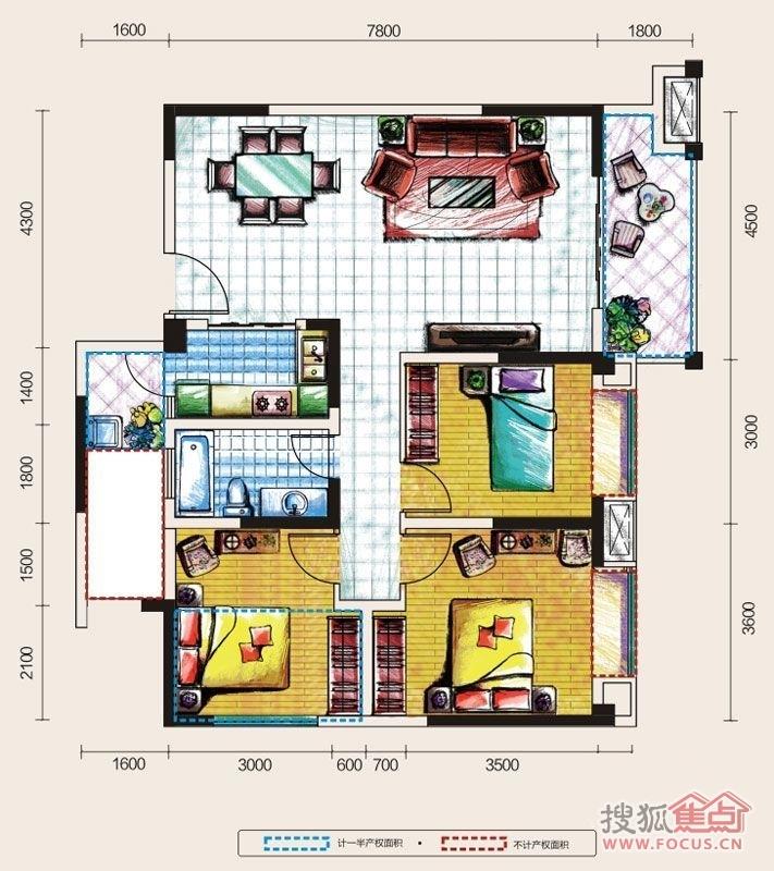 洛森堡映山三居室125栋h4_洛森堡映山户型图-成都搜狐