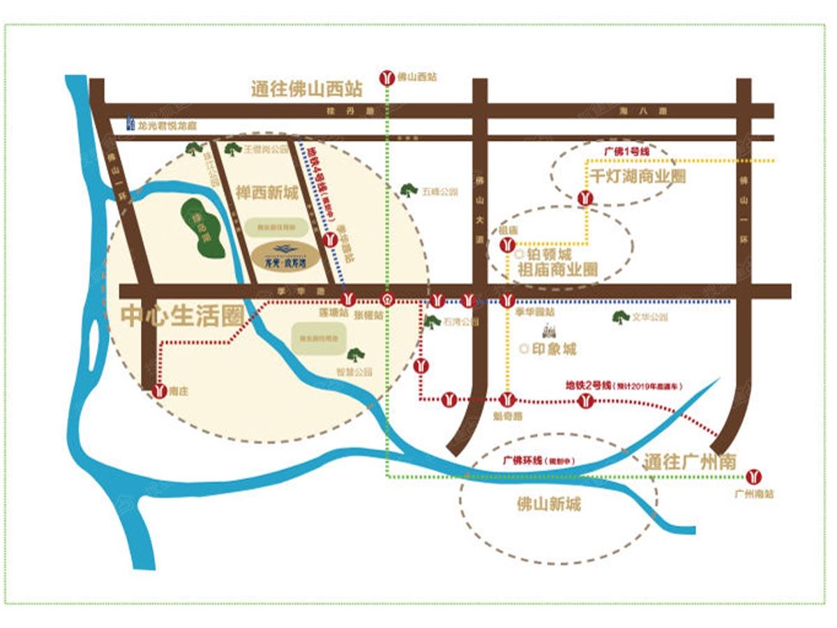 罗定市龙湾地图
