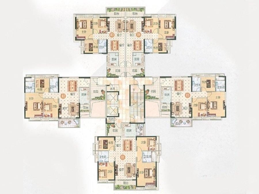 南沙滨海花园滨海御城8栋楼层平面图