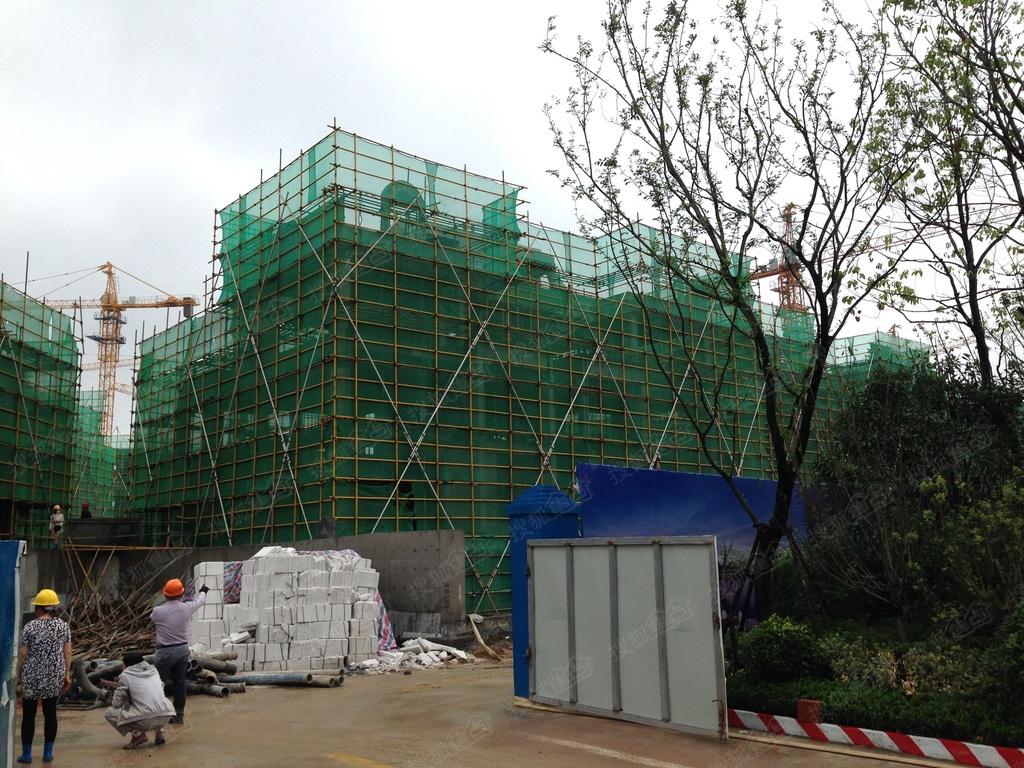 蓝光雍锦半岛施工进度(2016.6)