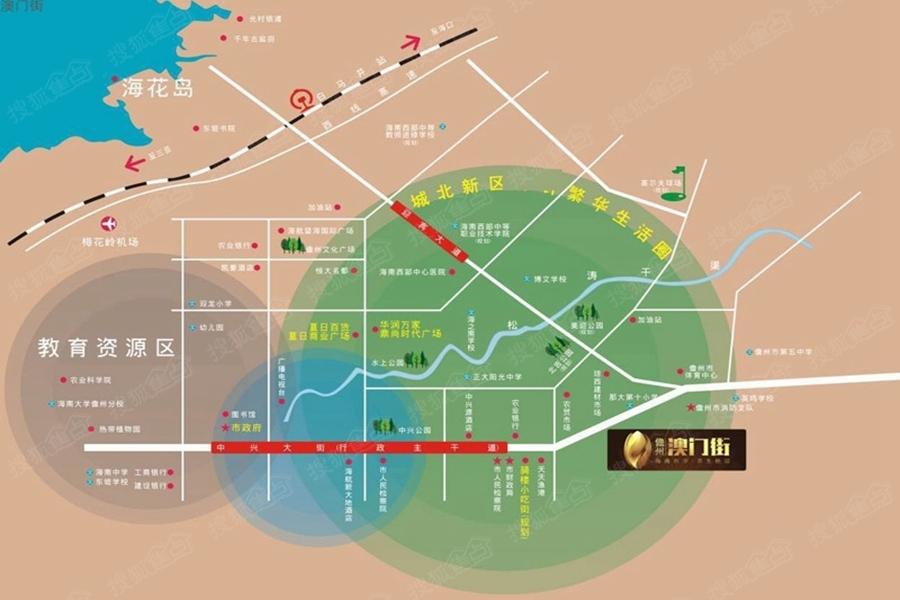 儋州澳门街交通图-海南搜狐焦点网