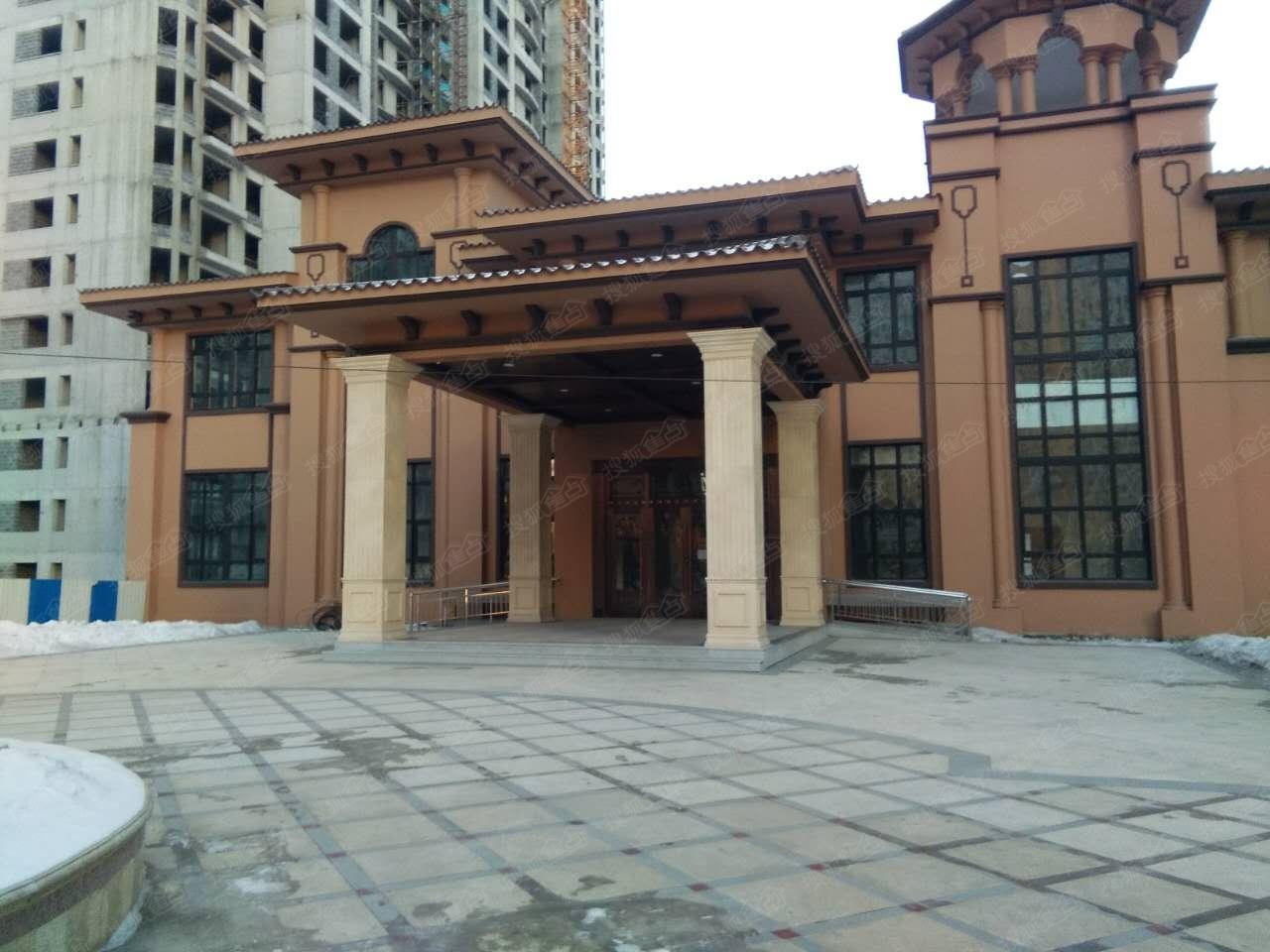 龙跃金水湾小区大门冬景