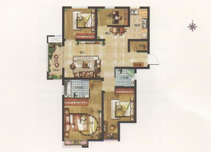 57平米的楼房结构图