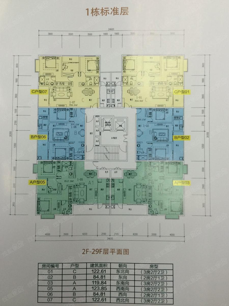 润城二居室十区85㎡_润城户型图-昆明搜狐焦点网