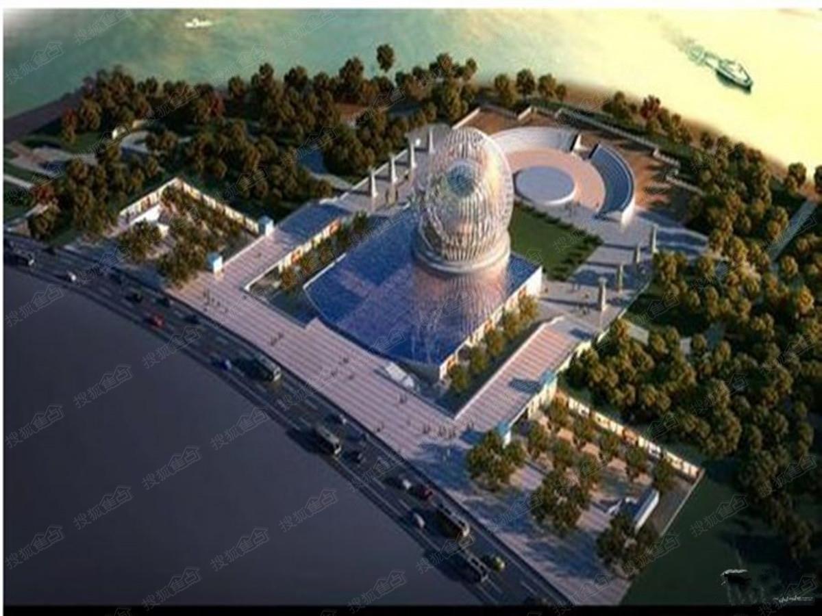 马滩园区产业布局空间结构总体上概括为:一心两轴