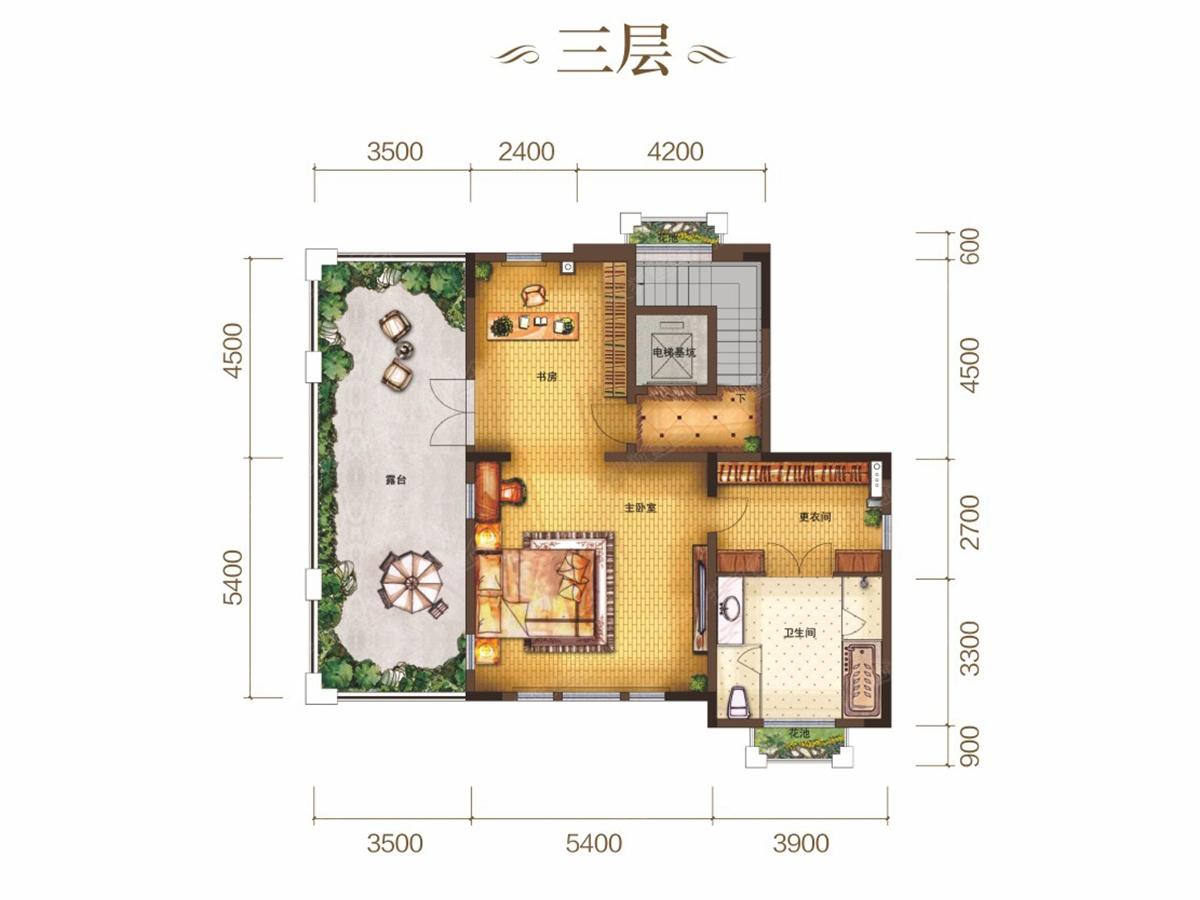130平方米别墅户型图 农村建房子130平方米 一楼加楼梯设计图 130平方