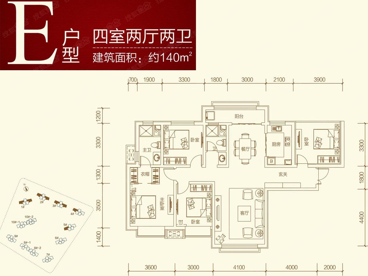 中国海南海花岛四居室e_中国海南海花岛户型图-兰州