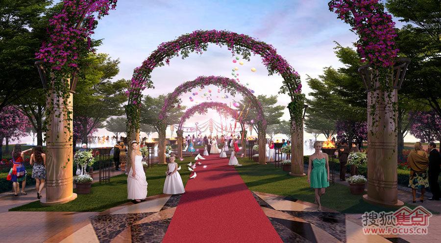 婚庆广场效果图