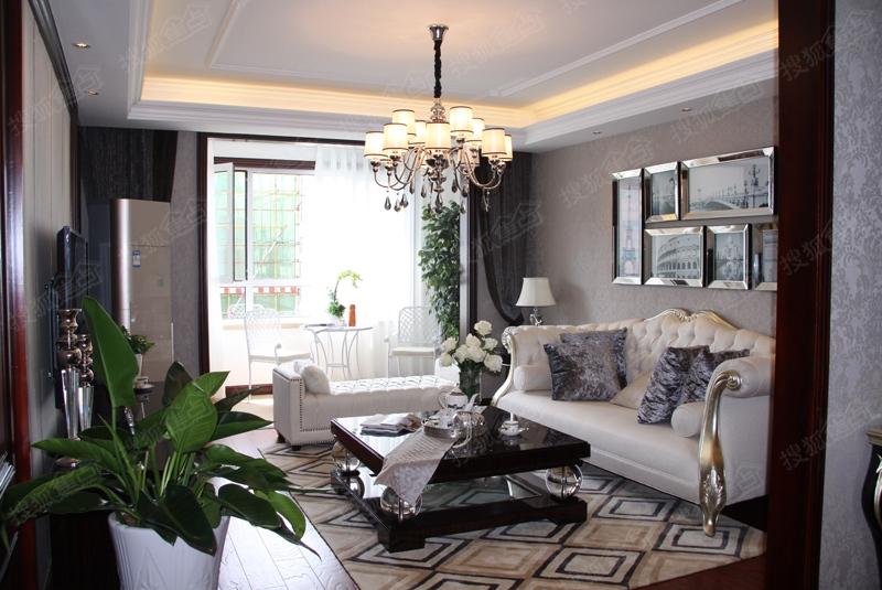 盛世华章143平欧式风格样板间之客厅