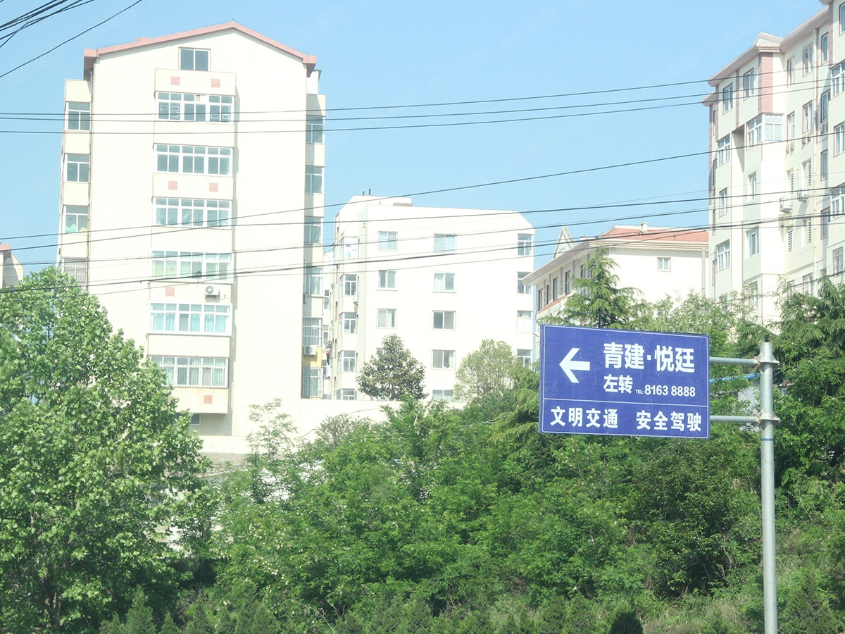 世袭领地悦廷周边配套-指示路牌-青岛搜狐焦点网