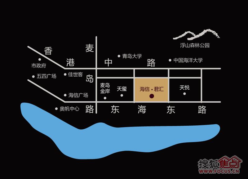 海信·君汇交通图-青岛搜狐焦点网