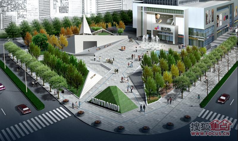长方形景观设计平面图 绿地
