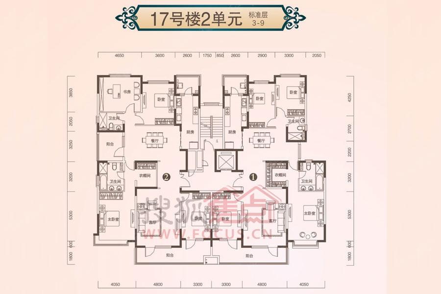 恒大御景半岛17号楼2单元楼层平面图-石家庄搜狐焦点网