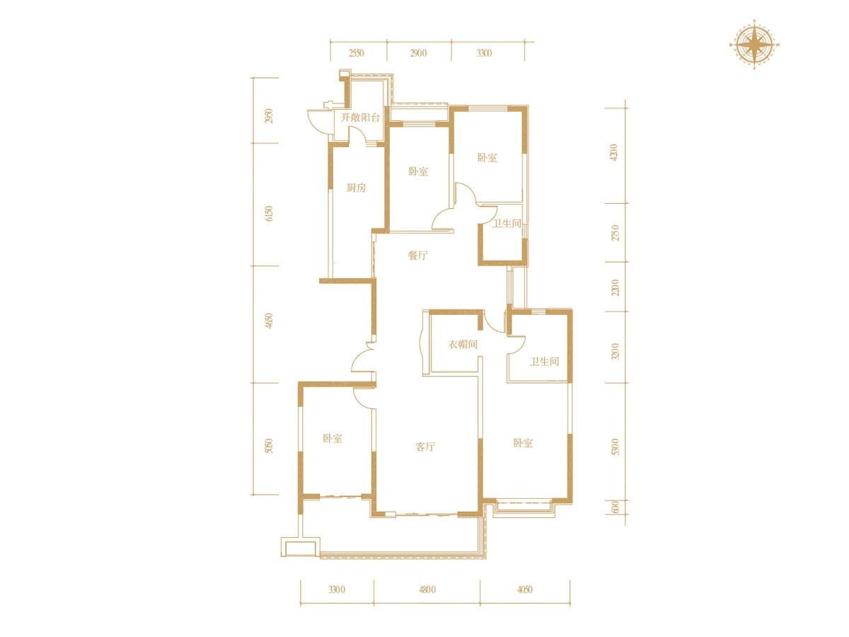 恒大御景半岛四居室16号楼01_恒大御景半岛户型图