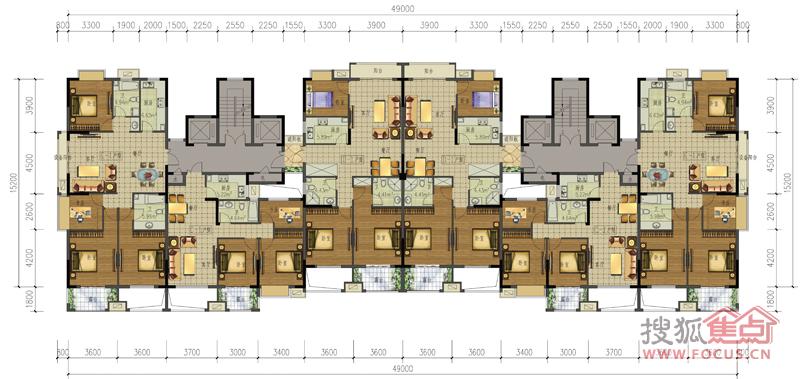 23678#楼标准层平面图户型