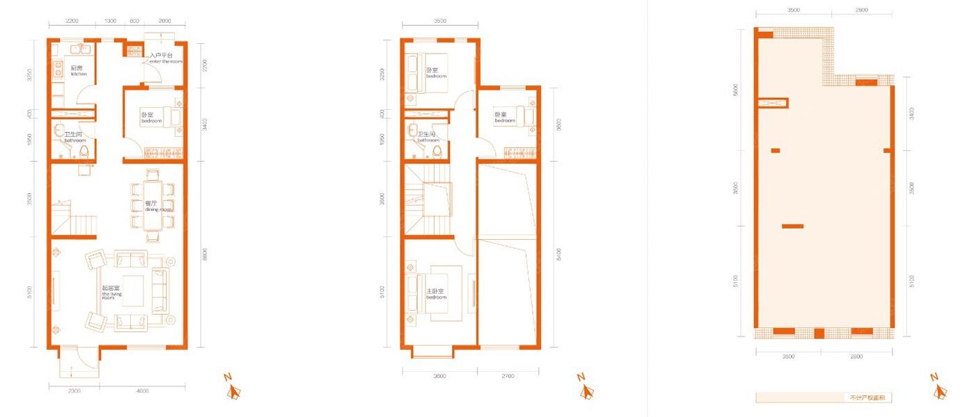 联排别墅150平米-4室2厅2卫-150.00(建面)一般地多卧室高离别墅窗户图片