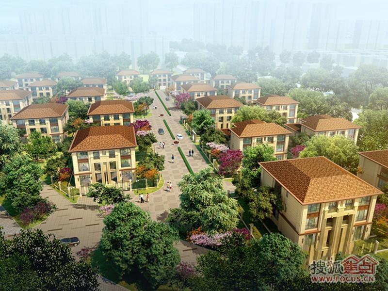 天津津南新城别墅洋房俯视图