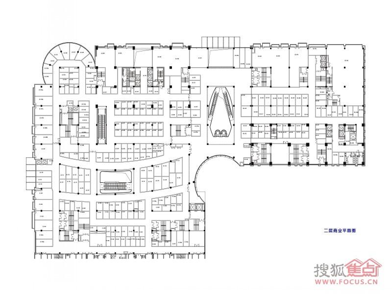 商铺二层平面图户型