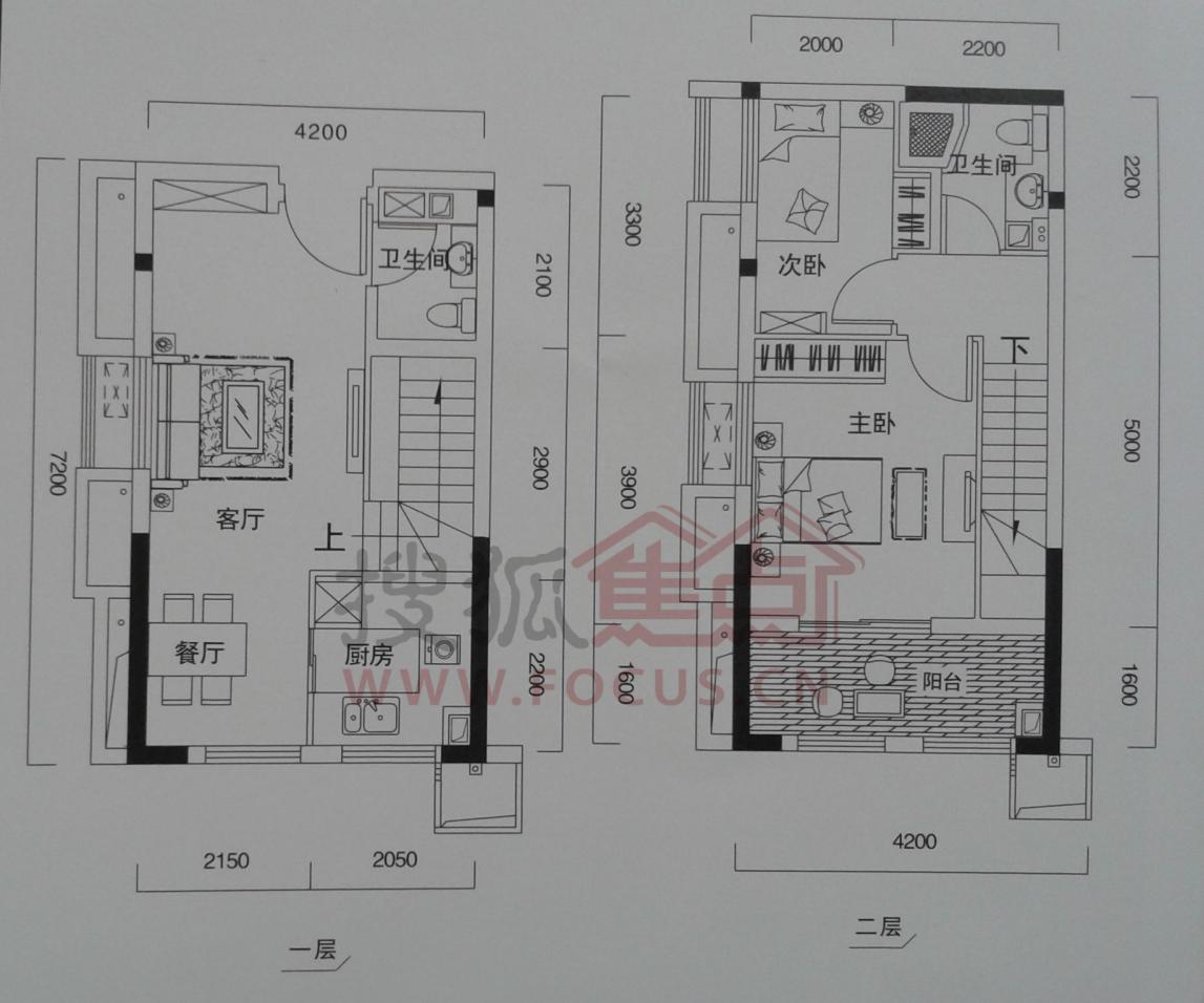 丽岛2046二居室d2_丽岛2046户型图-武汉搜狐焦点网