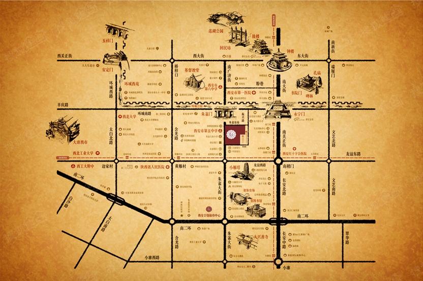 西安地图各区全图