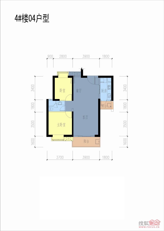 联发杏林湾1号花园二期(a1地块)4#,5#,地下室4#楼14层04单元户型户型